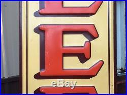 VinTagE EARLY Original LEE TIRES Phillips 66 VerTiCaL Sign OLD AnTiQue Gas Oil