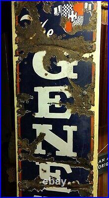 Vintage 1920'S-30'S The General Tire 6 ft. Vertical Porcelain Advertising Sign