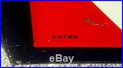 Vintage 1940's Atlas Tires Batteries Embossed 72 Metal Gas Oil Auto Sign
