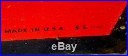 Vintage 1940's Atlas Tires Batteries Embossed 72 Metal Gas Oil Sign Clean