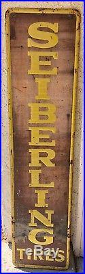Vintage 1940's Seiberling Tires Original Sign Gas Station