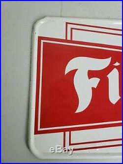 Vintage 1950's-1960's Firestone Tires Gas & Oil Metal Sign 25x10