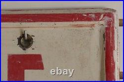 Vintage 1950s/1960s Firestone Tire & Battery Service Gas Oil 65 Metal Sign