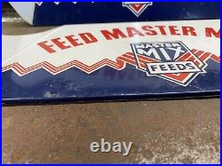 Vintage 1950s Feed Master Mix Animal Feed Agricultural Car Truck Farm Tire Stand