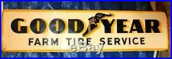 Vintage 1954 Goodyear Tires Farm Tires Tractor Truck Gas Oil Metal Sign 6 FEET