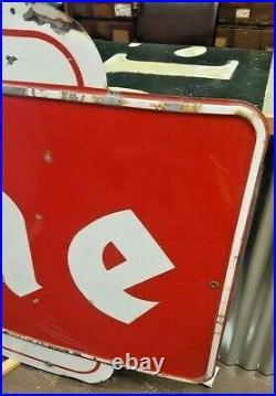 Vintage 1956 Porcelain Firestone Sign 12 Foot Advertising Gas Oil Tire Sign