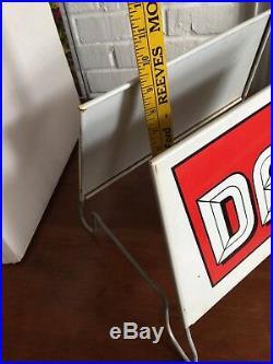 Vintage 1960's Dean Tires Tire Gas Station Oil Metal Sign Display NOS