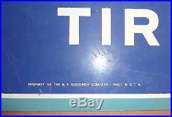 Vintage 1960's Metal Painted Sign BFGoodrich Tires & Batteries