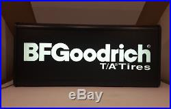 Vintage 1970's BFGoodrich T/A Tires Lighted Advertising Sign 29 x 13