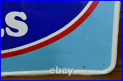 Vintage 1970s/1980s Large Cooper Tires Embossed Metal Sign Gas Oil Station Sign