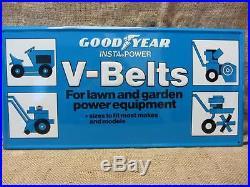 Vintage 1978 Goodyear Embossed V Belt Sign Scioto Antique Old Tires Tire 9438