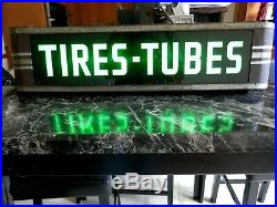 Vintage 30's-40's Tires-tubeslighted Signneon Productsmotorcyclecarbicycle
