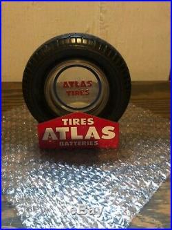 Vintage 50s Era Original Atlas Tire Ashtray Very Nice Condition