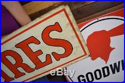 Vintage 60's Star tire Tires Advertising Gas Oil Station Sign tin Repair Garage