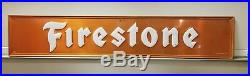 Vintage 72 Embossed Firestone 1960 Metal Sign Gas Oil Tires. Good Condition