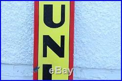 Vintage 72 Original Porcelain Dunlop Tires Sign Vertical Garage