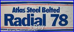 Vintage ATLAS Steel Belted RADIAL 78 Tire Sign metal tin tire display stand adv