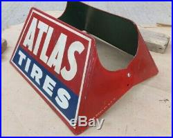 Vintage ATLAS TIRES DISPLAY RACK STAND HOLDER Original S-1 S. S