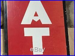 Vintage ATLAS TIRES Vertical PORCELAIN Sign STANDARD OIL Gas Advertising 60 OLD