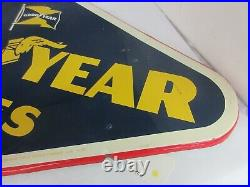 Vintage Advertising 1958 Goodyear Tire Sign Tin Great Condition A-266