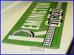 Vintage Advertising Remington Tires Sign, Metal, Original, A-M 1-76