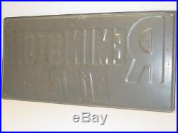 Vintage Advertising Remington Tires Sign, Metal, Tin, Original, Automobilia