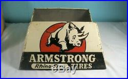 Vintage Armstrong Rhino-Flex Tires Display Stand Sign