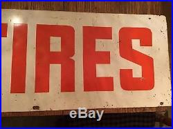 Vintage B. F. Goodrich TIRES Double Sided Metal Sign