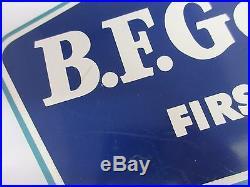 Vintage B. F. Goodrich Tire Display Header Sign Gas Oil Automobilia 743-x