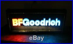 Vintage B. F. Goodrich Tires Gas Station Hanging Lighted Sign