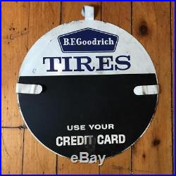 Vintage BF Goodrich Tires Automotive Tin Tire Sign Advertising