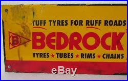 Vintage Bedrock Tyre Tube Advertising. Sign Board Collectible