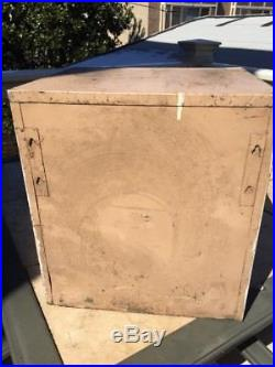 Vintage Bowes Bows Seal Fast Metal Tube Tire Repair Cabinet Pinup Girl