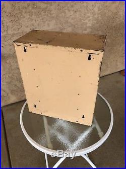 Vintage Bowes Seal Fast Metal Tube Tire Repair Cabinet
