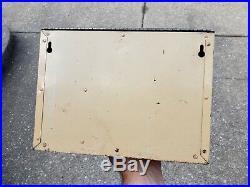 Vintage Bowes Tire Repair Kit Display Cabinet Sign Pinup Girl Garage Gas Station