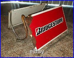 Vintage Bridgestone Double Sided Tire Rack Sign Adjustable