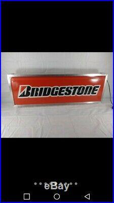 Vintage Bridgestone Tire Double Sided Lighted Sign