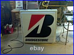 Vintage Bridgestone tire sign 34x34