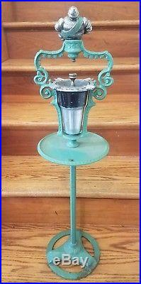 Vintage Cast Iron Michelin Man Advertising Ash Tray Smoking Stand Sign RARE