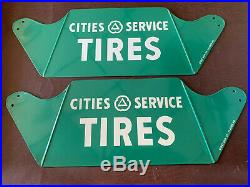 Vintage Cities Service Sign New Gas Station Gas Pump Tire Display Stand Citco