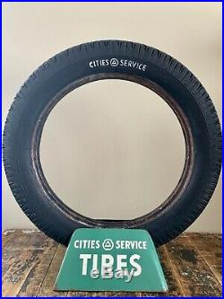 Vintage Cities Service Tires Display withOriginal Cities Service Brand Tire