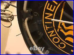 Vintage Continental Tire Clock Neon Lights Dealer Item Wall Sign Man Cave 20