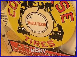 Vintage Converse Tire Porcelain Flange Sign