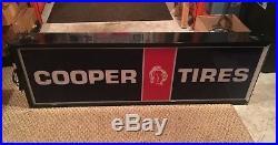 Vintage Cooper Tires Lighted Sign
