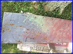 Vintage Cooper Tires Tubes Tin Sign Embossed 5' Early Cooper Tires Sign
