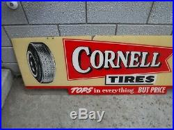 Vintage Cornell Tire Sign Pep Boys 60's 70's Rare