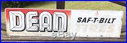 Vintage DEAN Double Sided Saf-T Bilt Tires Sign 48x12