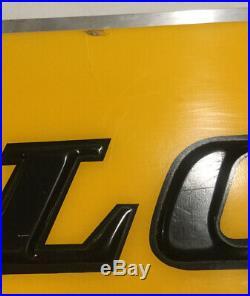 Vintage Dunlop Motorcycle Tires Double Sided Hanging Showroom Garage Dealer Sign