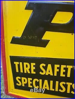 Vintage Dunlop Tire Metal Sign 60 Advertising 1972
