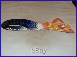 Vintage Dunlop Tires Blond Mermaid Woman Die-cut 30 Metal Gasoline & Oil Sign
